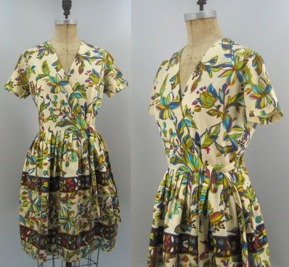 Vintage 60s Dash-About wrap dress, cotton shirtdre