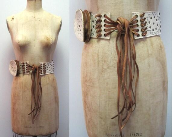Rare vintage 70s Vera Neumann belt, vintage hippie