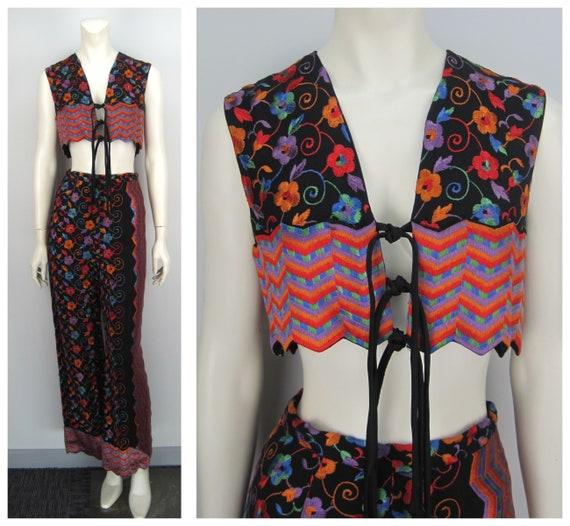 70s Donald Brooks Boutique vest and pant set, 70s