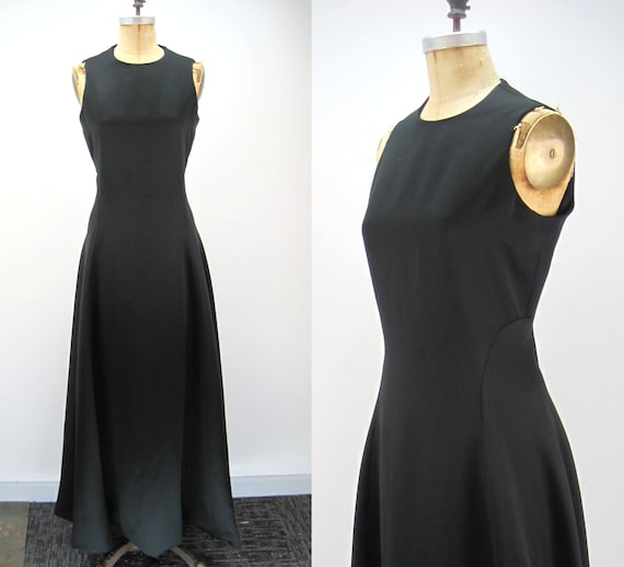 60s Geoffrey Beene gown, black gown, classic gown,