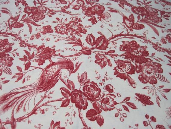 Schumacher Birds Of Paradise Decorator Fabric Toile Fabric Upholstery Fabric