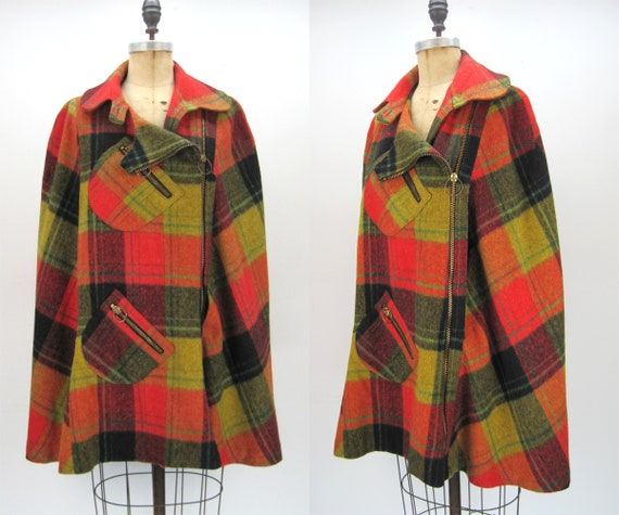 60s 70s Country Place cape, fall cape, fall colors