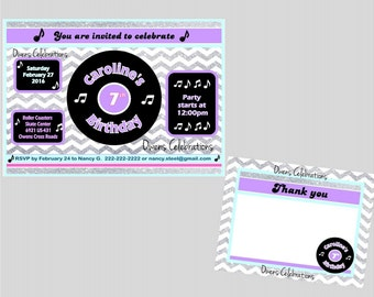Cd Invitation Etsy