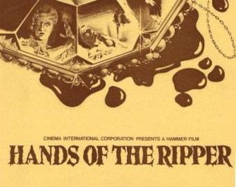 HANDS Of THE RIPPER - 1971 - Original uncut, unfolded Pressbook - Hammer Studios - Vampires - 70's Horror