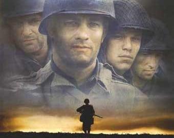 SAVING PRIVATE RYAN - 1998 - original 27x40 Movie Poster - 1-sided - Tom Hanks, Matt Damon, Edward Burns, Steven Spielberg