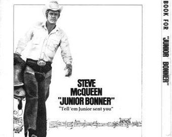 JUNIOR BONNER - 1972 - Original Uncut Pressbook - Steve McQueen - 20 Pages - Sam Peckinpah, Ida Lupino, Ben Johnson, Joe Don Baker