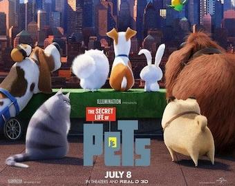 "SECRET LIFE Of PETS - 2016 - original 27x40 Advance Movie Poster ""B"" - Lake Bell, Kevin Hart, Ellie Kemper, Jenny Slate"