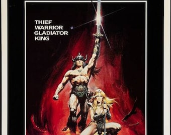 CONAN THE BARBARAIAN -1982 - original Rolled 27x41 movie poster - Arnold Schwarzenegger - Sword & Sandal!