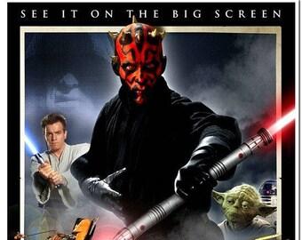 STAR WARS Episode 1 - Phantom Menace - 2012 Re-release - original 27x40 Movie Poster - Ewan McGregor, Natalie Portman