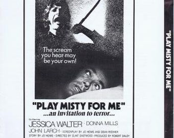Play Misty For Me - 1971 - CLINT EASTWOOD - Orig 20 Page Pressbook - No Cuts - Jessica Walter