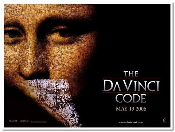 Da Vinci Code 2006 Original British Quad Movie Poster Etsy