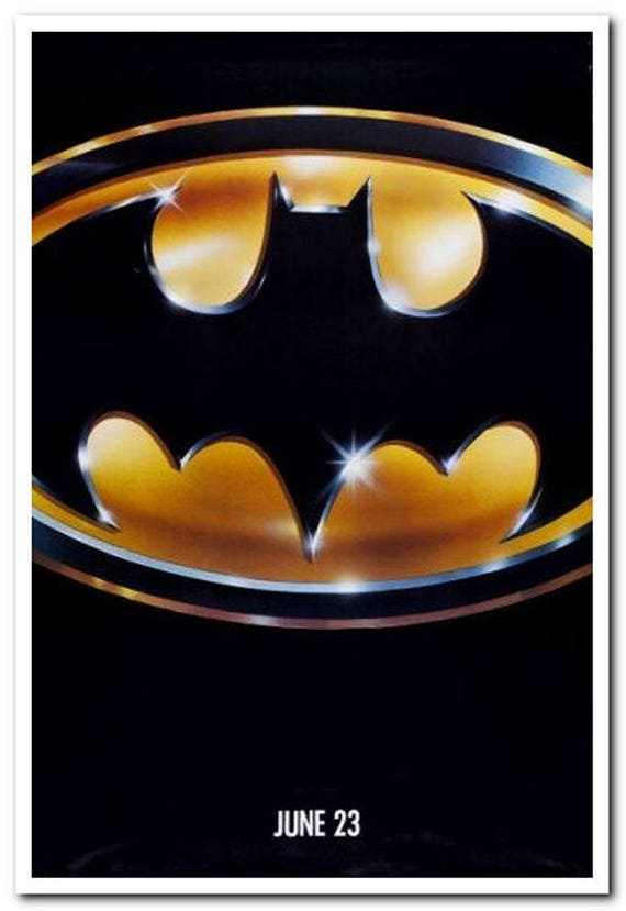 BATMAN 1989 original rolled 27x40 ADVANCE movie poster Jack | Etsy