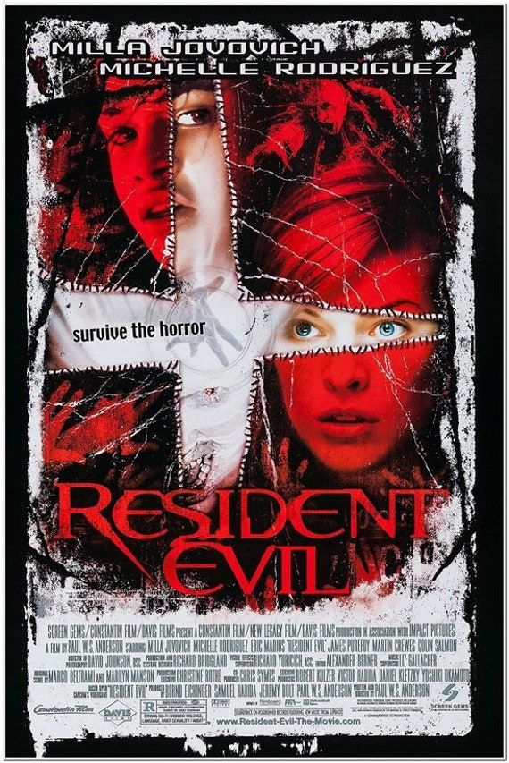 Resident Evil 2002 Original 27x40 Movie Poster Milla Etsy