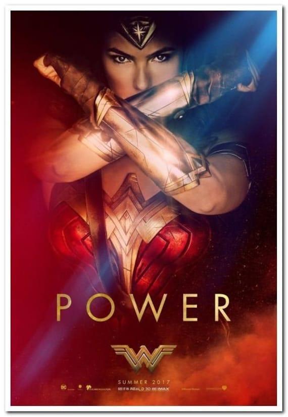 WONDER WOMAN MOVIE POSTER Original DS 27x40 Power Version Advance Style 2016
