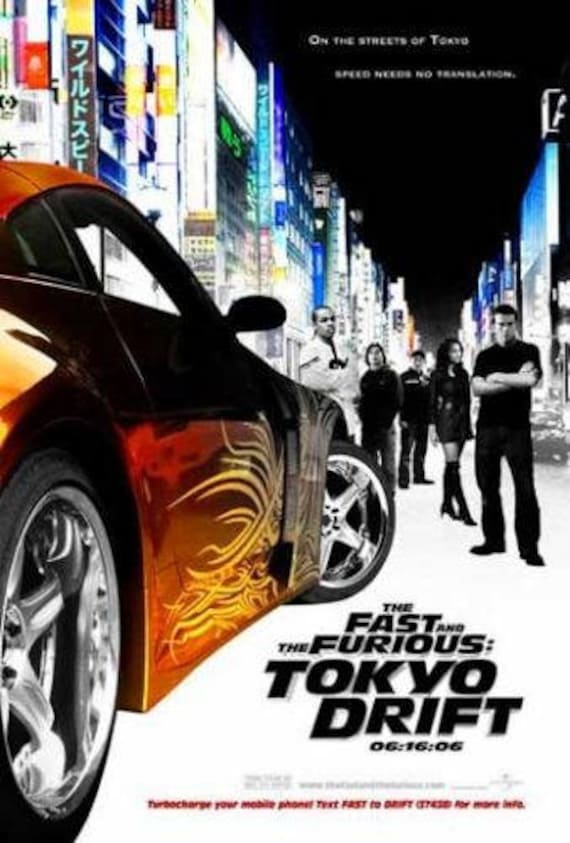 Street Racing Fast And The Furious 3: Tokyo Drift Cars 2006 Orig DS 27x40 Movie Poster LUCAS BLACK