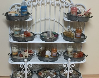 1:12 Scale Dollhouse Miniature Seaside Home Decor Metal Trays (each sold separately)