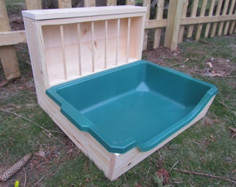 Large - EZ Entry Rabbit Bunny Easy Entry Hay Feeder and Litter Pan Combo