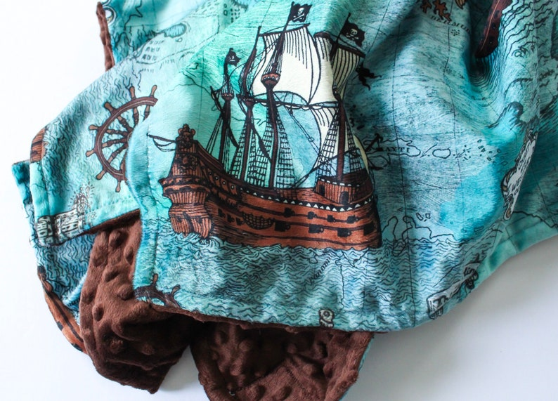 ocean waves and ships crib sheets and changing pads  whales Pirate Ship /& Ocean nursery items blankets octopus