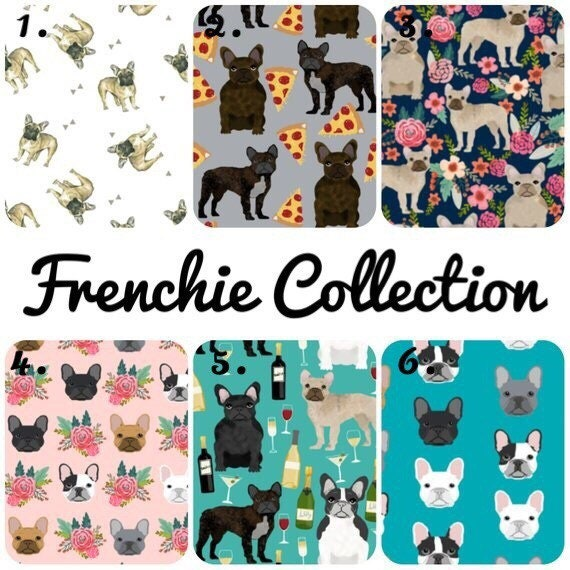 Pets Home Fleece Fabric Material: French Bulldogs /& Pugs Print Pink Children