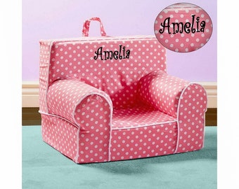 Personalize My Anytime Chair   Pink Polka Dots