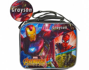 7ed27b8a89 Personalized Marvel Avengers Lunch Bag with Strap