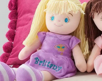 Personalized Dibsies Butterfly Snuggle Doll - 15 Inch, Blonde