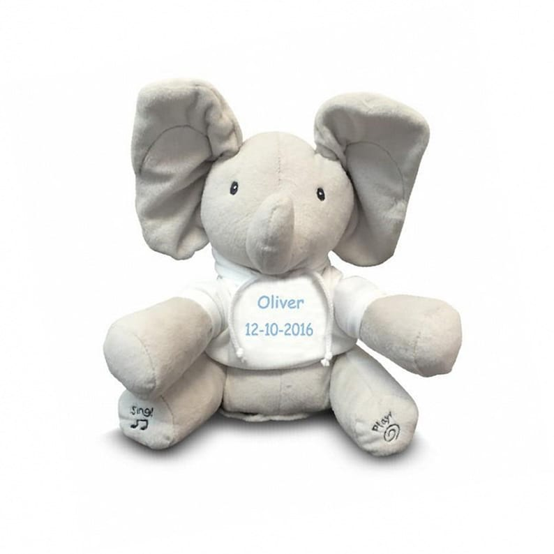 6eaa10e074f Personalized Gund Flappy the Peek A Boo Elephant