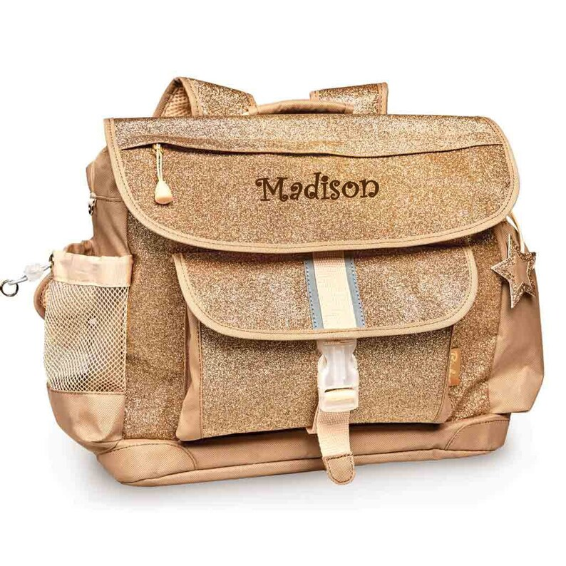 Gold Personalized Bixbee Sparkalicious Glitter Backpack