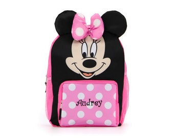 """Personalized Minnie Mouse """"We've Got Ears, Say Cheers"""" Backpack - 16 inch"""