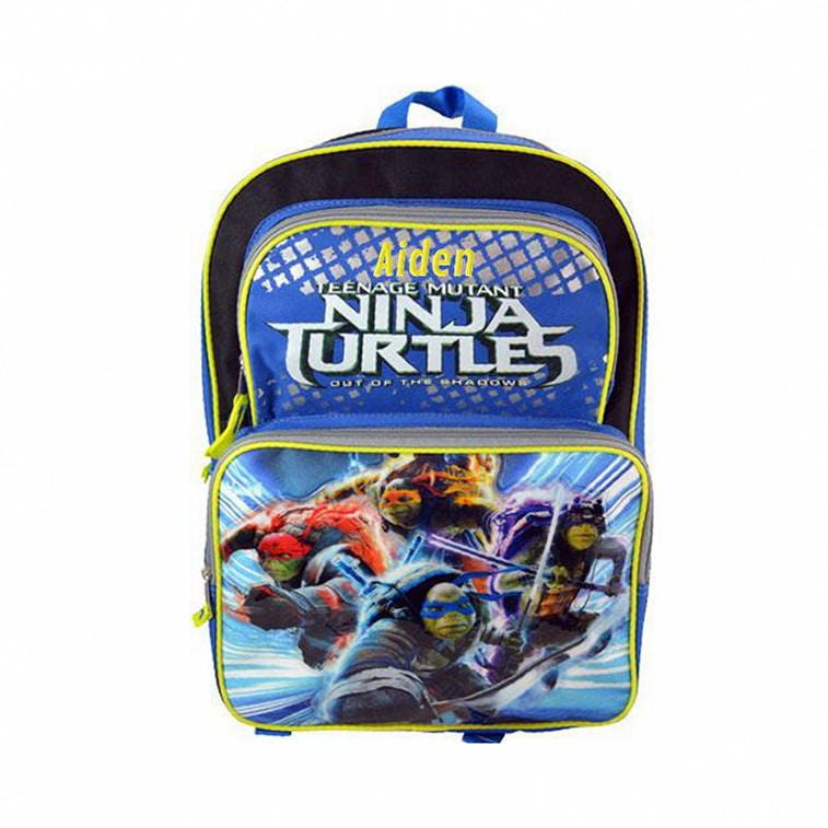 Personalized Ninja Turtles Character Backpack 16 Inch 85f91b1296f3c