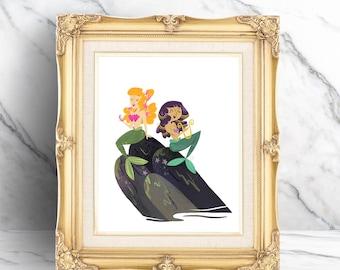 Best Mermaid Friends Print
