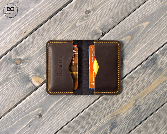 NEW Men/'s Bifold Purse Wallet Credit//ID Card Genuine Leather Holder Slim Gift LC