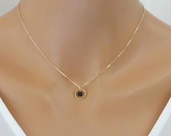 Lava Diffuser necklace, Karma necklace, Lava Stone Necklace, Oil Diffuser Necklace, Aromatherapy jewelry, Essential Oil Lava rock necklace