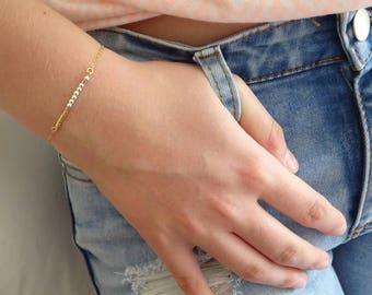 Custom Morse code bracelet, Bridesmaid Personalized bracelet, graduation gift, Gold fill, Sterling silver bracelet, Name bracelet