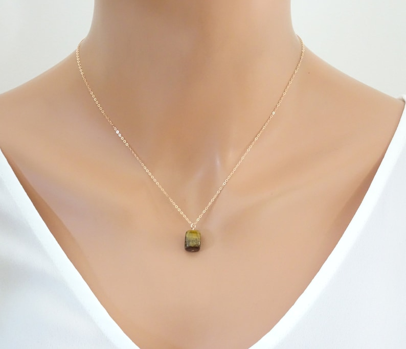 Gift for her Necklace Tiger Eye pendant necklace Natural gemstone Jewelry