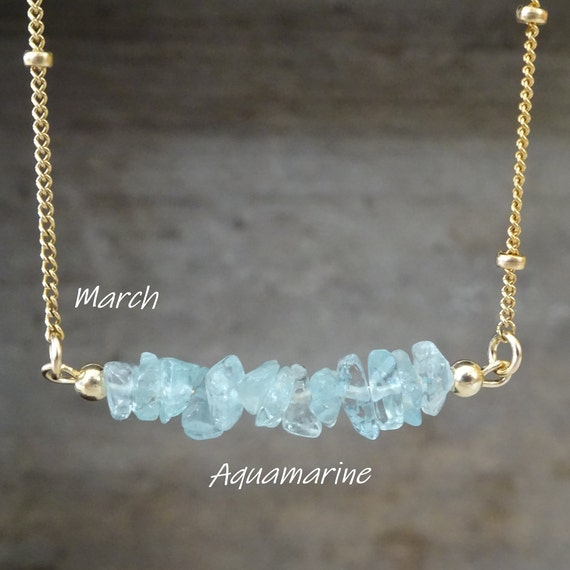 Aquamarine necklace floating gem necklace raw aquamarine necklace march birthstone silk cord necklace raw crystal necklace pisces
