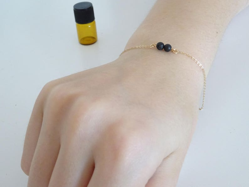 Custom number of tiny healing stone beads Lava Bead Essential Oil Diffuser bracelet Aromatherapy jewelry
