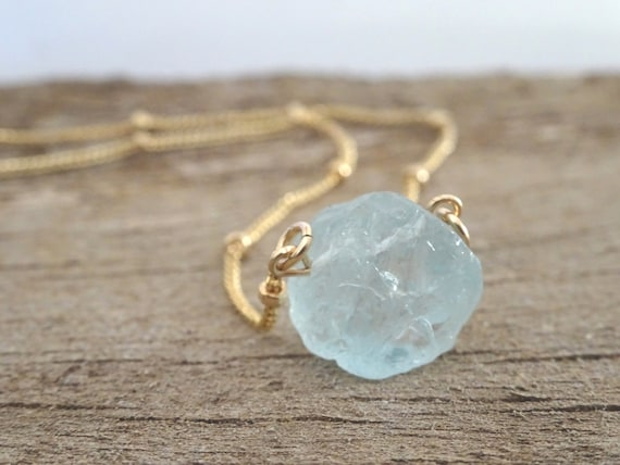 Raw Crystal Necklace Birthstone Necklace Gemstone Necklace Raw Stone Necklace Birthday Gift for Her Family Necklace
