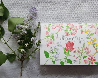 Watercolor Card 'Thank You'