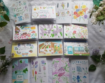 Watercolor Cards 'Farm Collection' - set of 14 cards