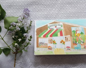 Watercolor Card 'Sunnycrest Farms'