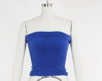 1980s Terry cloth white tube top Sz S-L