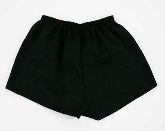 Vintage 1990s Running Shorts - Black Athletic Shorts - Short Shorts  - Retro -  Small / Medium