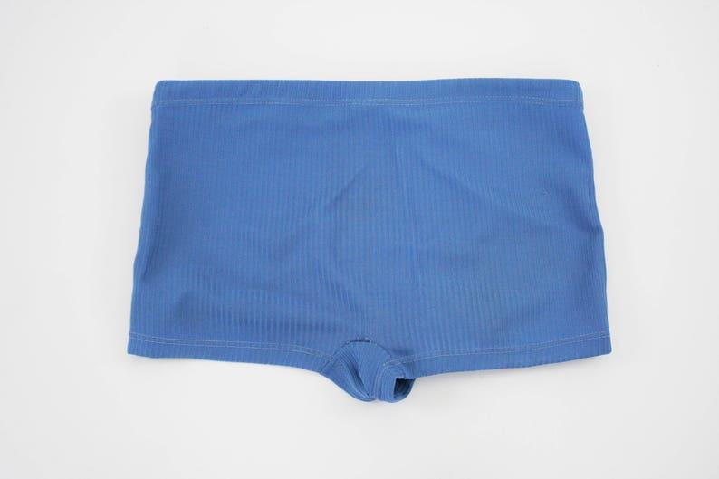 Mens Swim Shorts 38 Trunks Blue Retro Vintage 1950s Brief Swim Suit Beach Wear Size Large Jantzen The Expandables