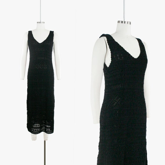 Vintage Crochet Maxi Dress - Oscar De La Renta - B