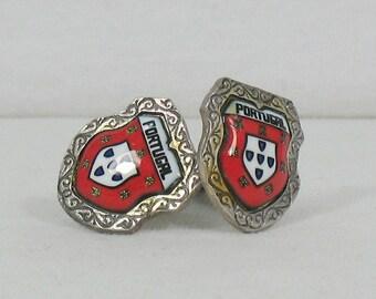 Vintage Portugal Crest Cufflinks