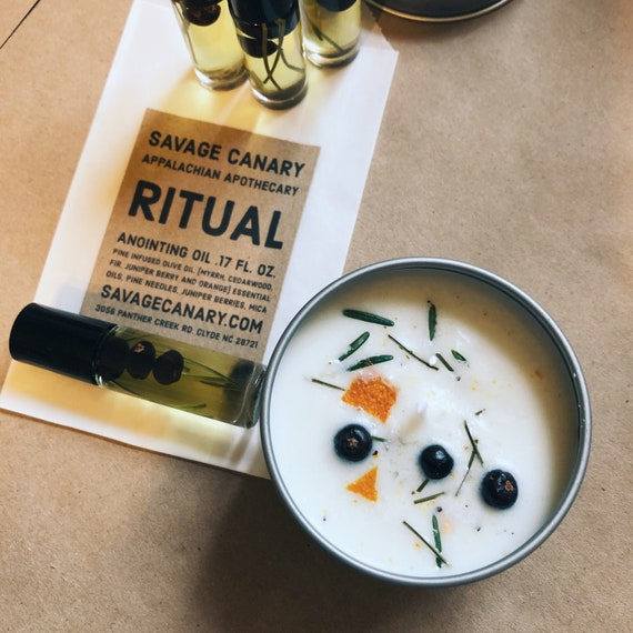 Ritual Candle and Oil Gift Set