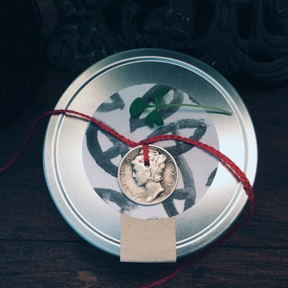 Mercury Dime Anklet and Protection/Binding Spell Candle