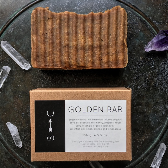 The Golden Bar- Propolis Complexion Bar with Calendula and Turmeric