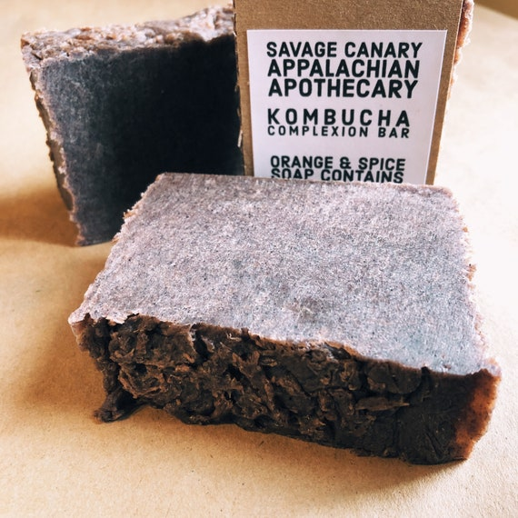 Kombucha Complexion Bar- Orange Spice Soap for Face